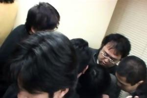 youthful schoolgirl groped in library
