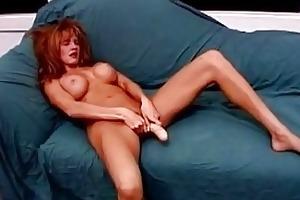 breasty redhead milf rides stiff young cum shooter