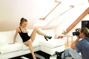 legal age teenager model acquires fucked during
