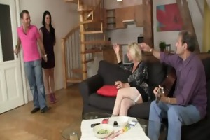 girlfriend and his family having sex