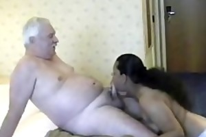chunky hottie from india crinding on white old