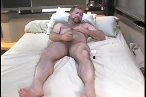 daddy bear masturbating