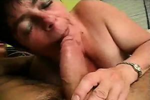 finger group-fucked and pounder engulfing granny
