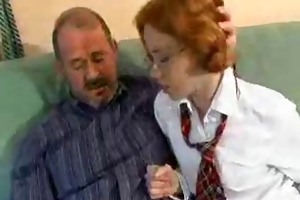 redhead schoolgirl and older man by snahbrandy