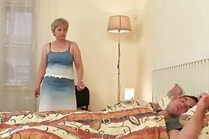 she is fucks her son in law as he is sleeps