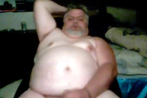 horny chub dad cums