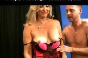 blond mature in stockings acquires what she