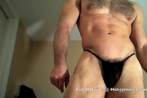 cumming unshaved thick muscle cock!