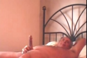 daddy jerkof big load on daybed