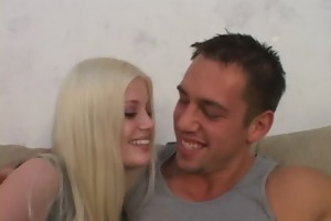 young couple in amazing wife sharing