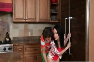horny milf caught her step daughter fucking in