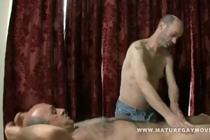 daddy receives a massage and a fuck