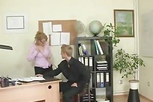 nasty office lady bangs employee