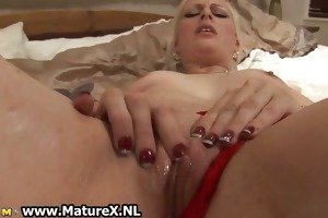 horny golden-haired old lady loves fucking
