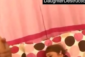 pigtailed teen daughter drilled hard