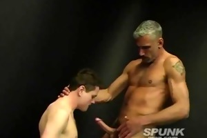 lewd daddy stuffing his giant cock down this