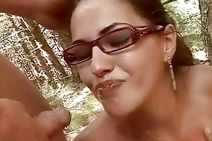 juvenile couple fucking and pissing outdoor