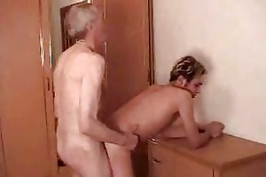 old lascivious fart ass drilling cute guy from