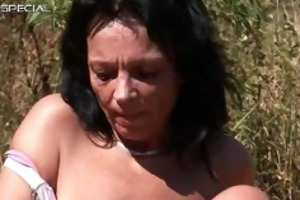 horny milf receives fucked hard outdoor free part3