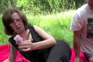 german mom caught outdoor and fuck by youthful boy