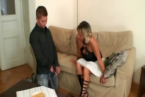 she finds him fucking her old mother