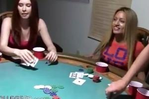 young girls banging on poker night