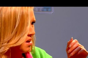 slutty young blond schoolgirl sucks & fucks