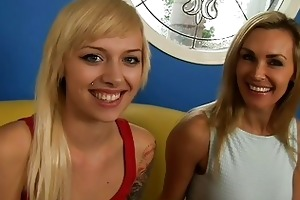 hot interview with nasty milf and her hot daughter