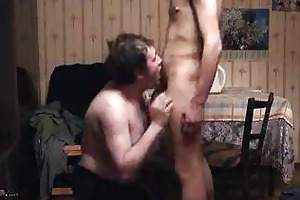 old pappa pleasing him by sucking his penis