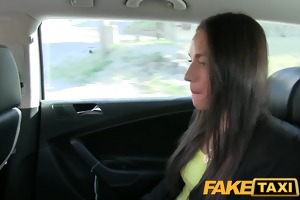 faketaxi hot budapest cutie in airport taxi