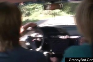 youthful chap picks up older and fucks her