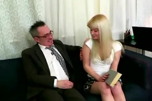 concupiscent old teached fucks his young blond