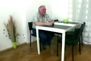wicked czech cutie copulates with old chap as