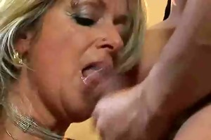 hot golden-haired euro aged banging in boots