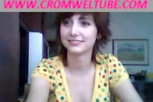 mom catches daughter sucking jock on livecam -