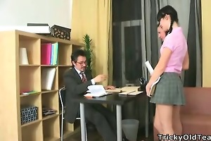 hot ladies fuck their old teacher.