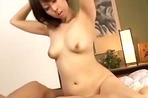milf giving blowjob riding on young boy cock on