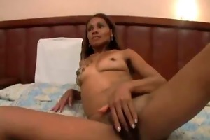unshaved ebon stepmom and not her son