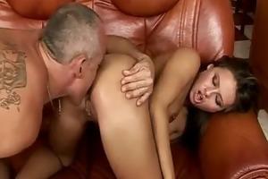 exotic hottie keen on mature dudes