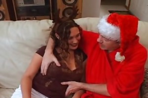dirty santa fucks his reindeer gal