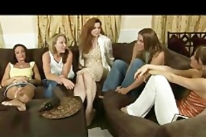 lesbo party turns into foot fuck big o