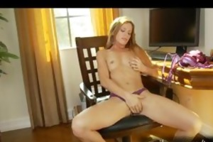 sexy mamma carly bell plays with her beloved toy