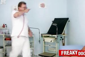 skinny redhead electra gals weird vagina exam