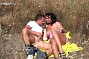 horny milf receives screwed hard outdoor part4