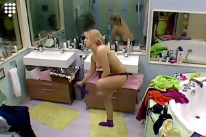 big brother nl hot blond teen beauty stripping