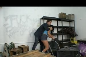sexy brunette employee ashli orion sucks &