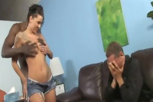 youthful daughter with precious a-hole screwed by