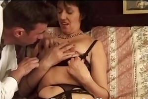 italian mature lady hairy vagina sex - signora