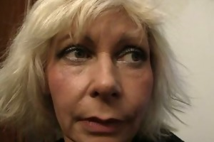 old blonde is doggy-style drilled