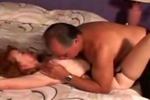 granddad gives a good anal to redhead older